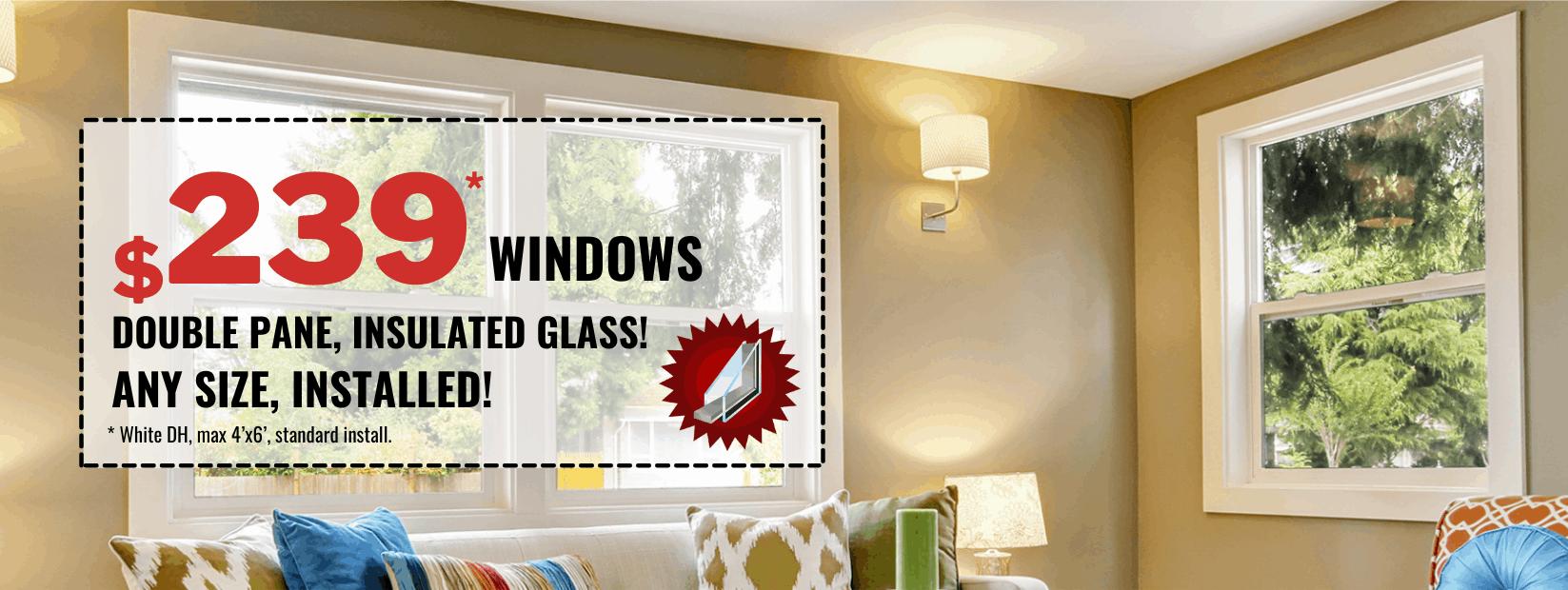 Double Pane Insulated Glass Windows